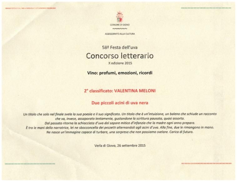 diploma premio festa uva