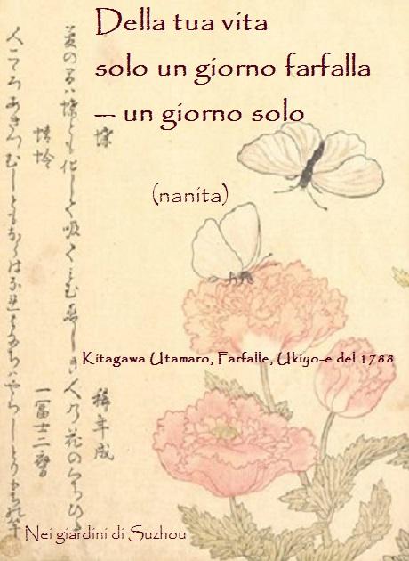 Kitagawa Utamaro, Farfalle, ukiyo-e del 1788. nanita