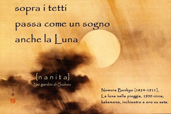 nomura-bunkyo-1854-1911-la-luna-nella-pioggia-1900-circa-kakemono-inchiostro-e-oro-su-seta