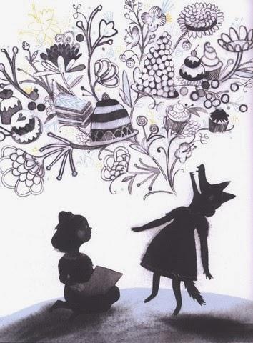 illustrazione da: La bambina con il lupo dentro  di MacLear Kyo