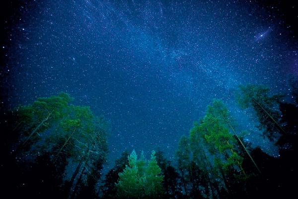 La Via Lattea vista dal Parconazionale di Oulanka, in Finlandia.