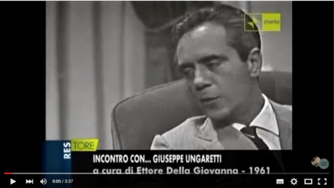 intervista Ungaretti