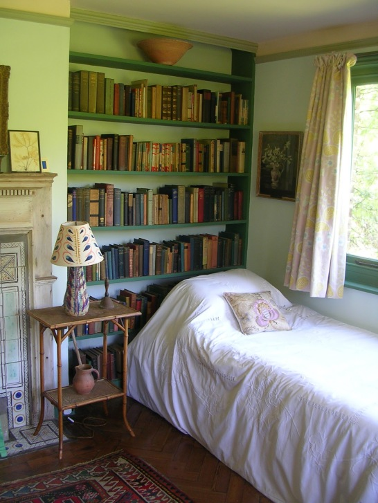 camera da letto, Monk's House, la casa di campagna di Virginia Woolf